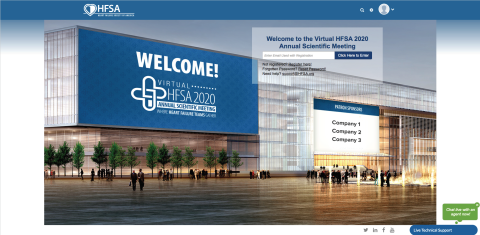 Mock-Up of the 2020 HFSA Virtual ASM Meeting Platform